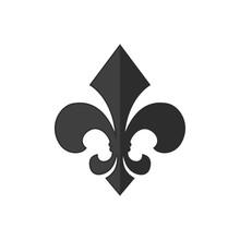 Fleur De Lis Heraldic Icon Sym...