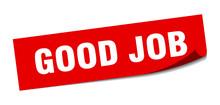 Good Job Sticker. Good Job Squ...