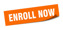 Enroll Now Sticker. Enroll Now...