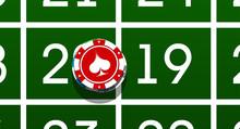 Happy New Year 2019 Poker Chip...