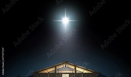 Fotografía  Christ's Birth In A Stable