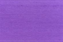 Purple Brick Wall Facade. Construction Material. Copy Space.