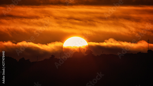 Fotobehang Baksteen Sunset Over Trinidad Head, Trinidad, California, USA