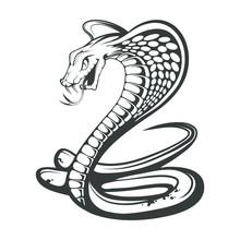 Black King Cobra Logo. Snake T...