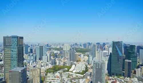 東京風景 六本木から望む皇居 丸の内 方面 2019