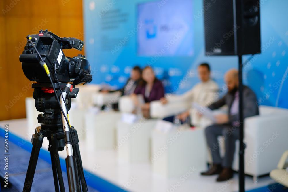 Fototapeta Camera is broadcasting live event