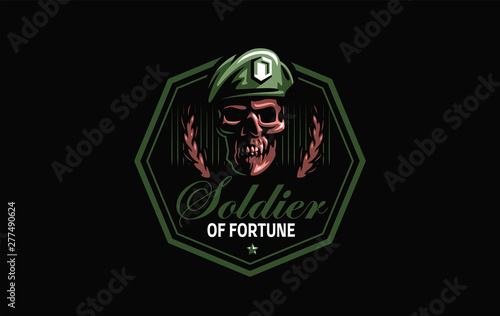 Photo Skull in a military beret