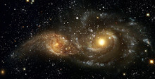 Space Nebulae. Cosmic Cluster Of Stars