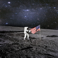 American Astronaut Landed And ...