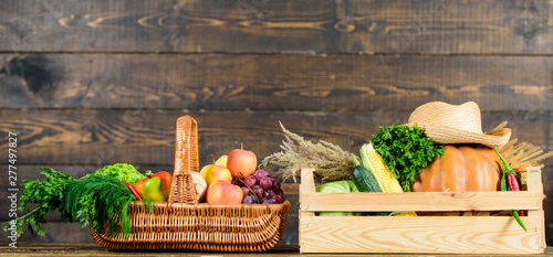 Just from garden  Delivery service fresh vegetables from