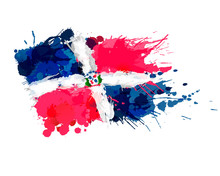 Flag Of Dominican Republic Mad...
