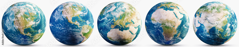 Fototapety, obrazy: Planet Earth geography map set