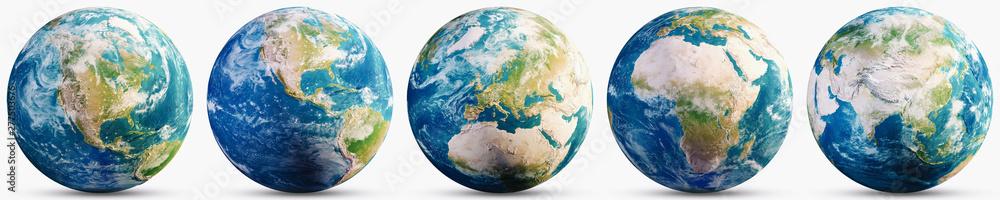 Zestaw map geograficznych Planeta Ziemia