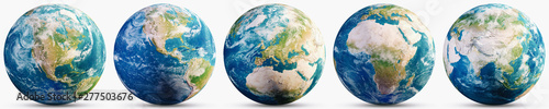 Photo Planet Earth geography map set