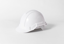 White Plastic Safety Helmet Fo...