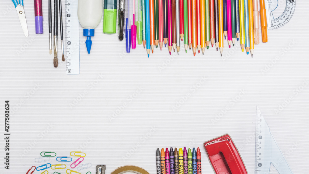 Fototapety, obrazy: Collection of assorted stationery