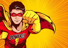 Superhero Comic Cover Template...