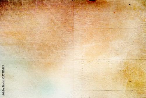 Fototapeta Retro paper texture - brown, beige, yellow paper background