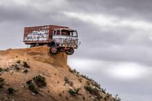 Truck On Ledge