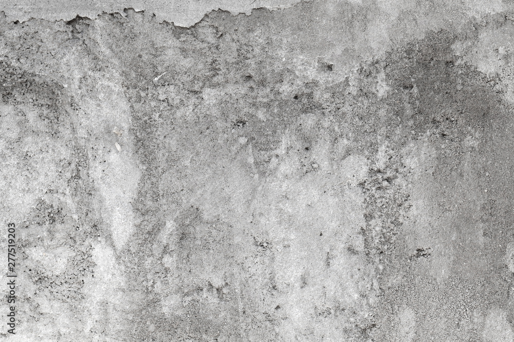Fototapety, obrazy: Rough gray concrete wall with faded stucco