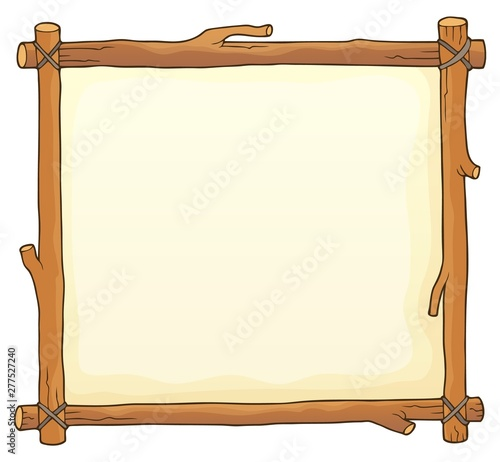 Door stickers For Kids Wooden board theme image 2
