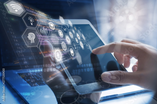 Obraz Business intelligence, Internet of Things - fototapety do salonu