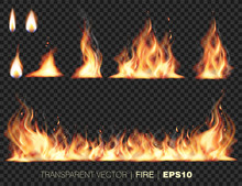 Collection Of Realistic Fire F...