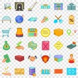 Perfect choice icons set. Cartoon style of 36 perfect choice vector icons for web for any design
