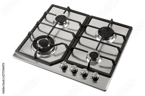 kitchen gas stove isolated on white background Fototapeta