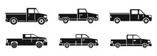 Pickup Truck Icons Set. Simple Set Of Pickup Truck Vector Icons For Web Design On White Background