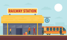 Railway Station Concept Banner...
