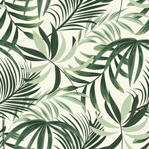 Tapeta do przedpokoju  trending-bright-seamless-background-with-colorful-tropical-leaves-and-plants-on-light-background