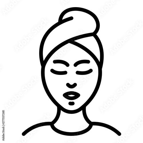 Fotografia, Obraz  Woman spa procedure icon