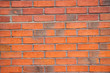 canvas print picture - Orange brick wall surface background texture