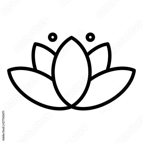 Fototapeta Beauty lotus icon. Outline beauty lotus vector icon for web design isolated on white background obraz