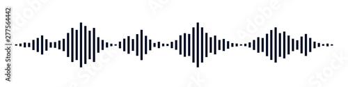 Black waves as equalizer isolated on black background. Vector Illustration - 277564442