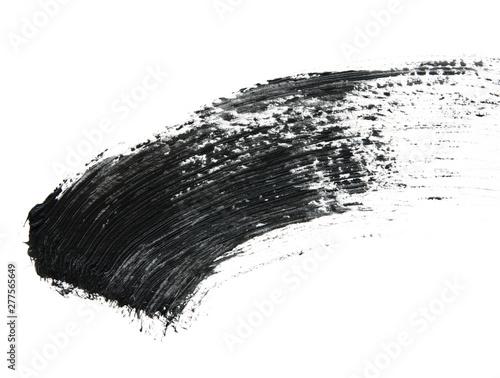 Valokuva  Black mascara brush strokes isolated on white. - Image