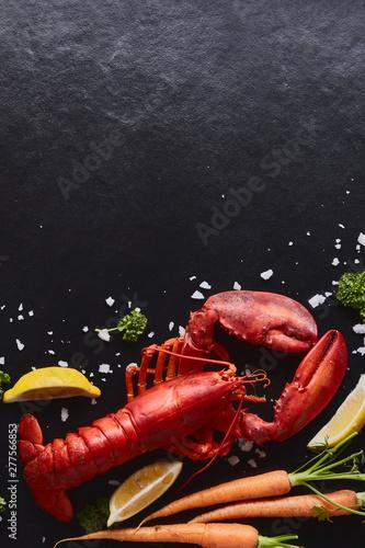 Obraz na plátně Steamed lobster prepared