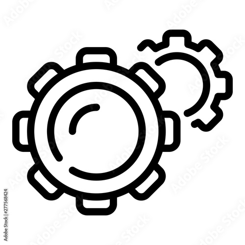 Fototapeta Gear mechanism icon. Outline gear mechanism vector icon for web design isolated on white background obraz