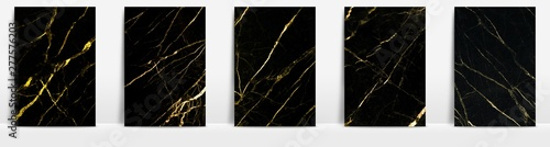 Fototapeta Marble collection abstract pattern texture golden background. obraz