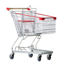 Shopping Cart Trolley For Supermarket Isolated On White Background