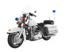 Police Patrol Motorcycle Isola...