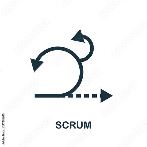 Scrum icon symbol. Creative sign from agile icons collection. Filled flat Scrum icon for computer and mobile