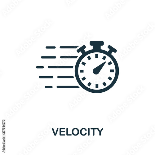 Velocity icon symbol Canvas Print