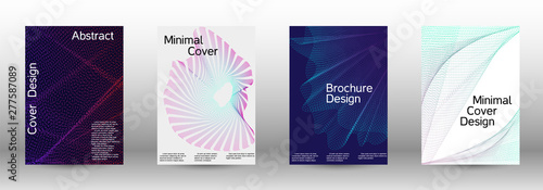 Poster Abstract wave Cover design template set