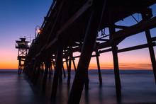 Sunset San Clemente Pier In Ca...