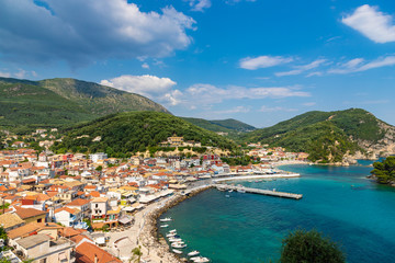 Amasing view to Parga from Venetian castle, Epirus, Greece