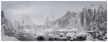 Snow Fog Mist Cliff Rocks Nature White Trees Ice Winter