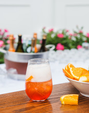 Fizzy Summer Cocktail In An Ou...