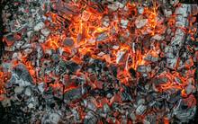 Burning Coals Texture Of Bonfi...